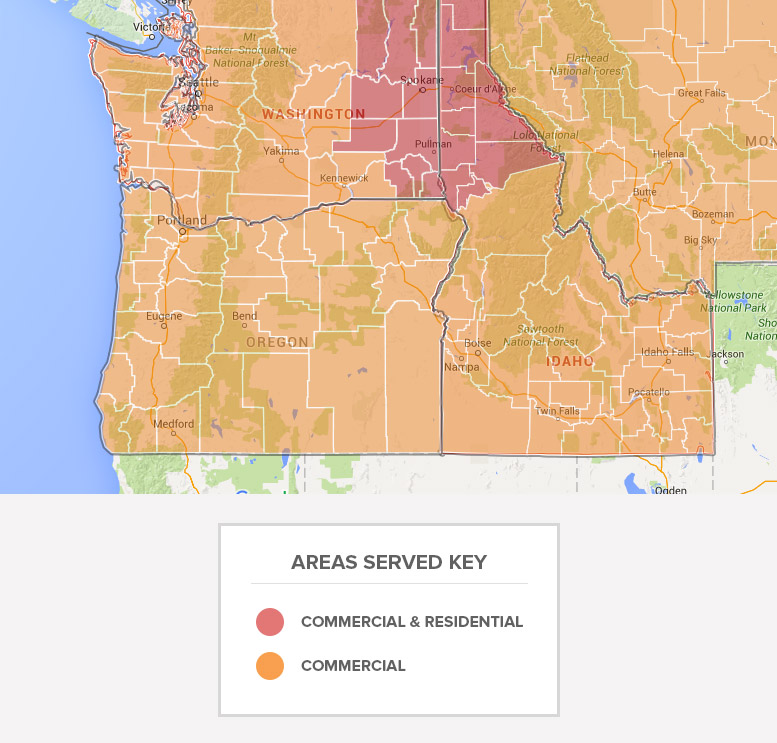 Service Area Map Greater Spokane